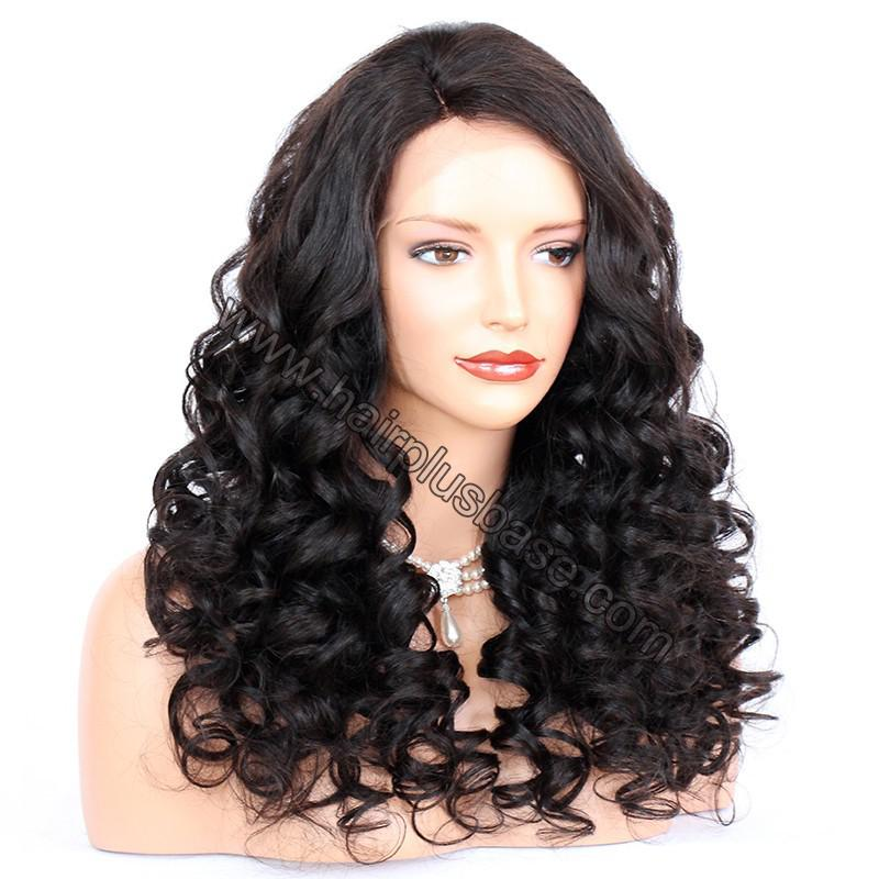 Pre Plucked Natural Hairline 360 Lace Wigs Loose Wave,180% Density, Indian Remy Hair, 4.5inches Deep Part 4