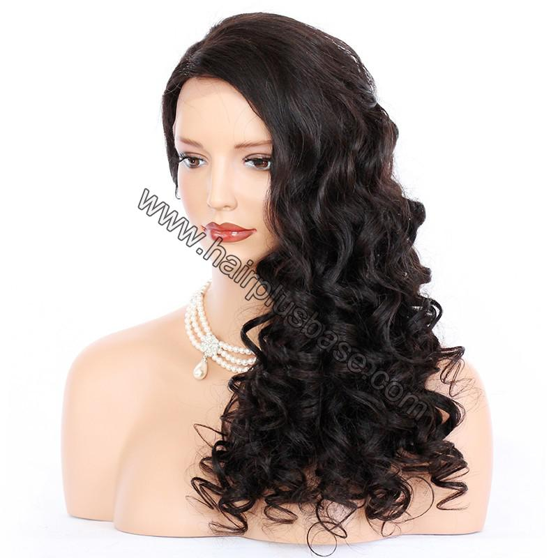 Pre Plucked Natural Hairline 360 Lace Wigs Loose Wave,180% Density, Indian Remy Hair, 4.5inches Deep Part 5