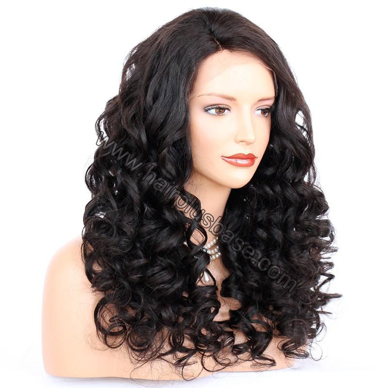 Pre Plucked Natural Hairline 360 Lace Wigs Loose Wave,180% Density, Indian Remy Hair, 4.5inches Deep Part 6