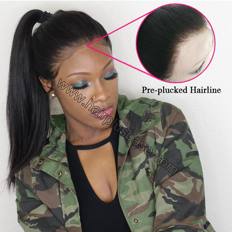 Pre Plucked Natural Hairline 360 Lace Wigs Loose Wave,180% Density, Indian Remy Hair, 4.5inches Deep Part 9