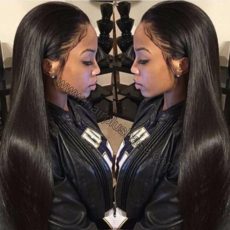Pre Plucked Yaki Straight 360 Lace Wigs,150% Density Indian Remy Hair 0