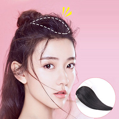 Remy Human Hair Clip on Hair Extensions Straight Invisible Wiglet Hairpieces for Women with Thinning Hair