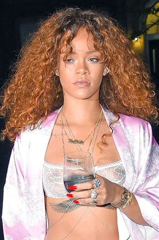 Rihanna Inspired Golden Brown Ombre Bouffant Curl Hair Celebrity Lace Wigs {Custom Wig Production Time 15-20 working days}