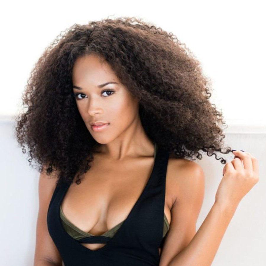 Serayah Style Lace Front Wigs Brazilian Virgin Human Hair Afro Curl 0