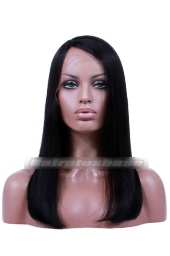 Yaki Straight Indian Remy Hair Side Part Bob Glueless Lace Part Lace Wigs 150% Thick Density