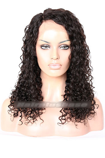 Lovely Curly Style Indian Remy Hair Side Part Glueless Lace Part Wigs 150% Density{Custom Wig Production Time 10-15 working days}