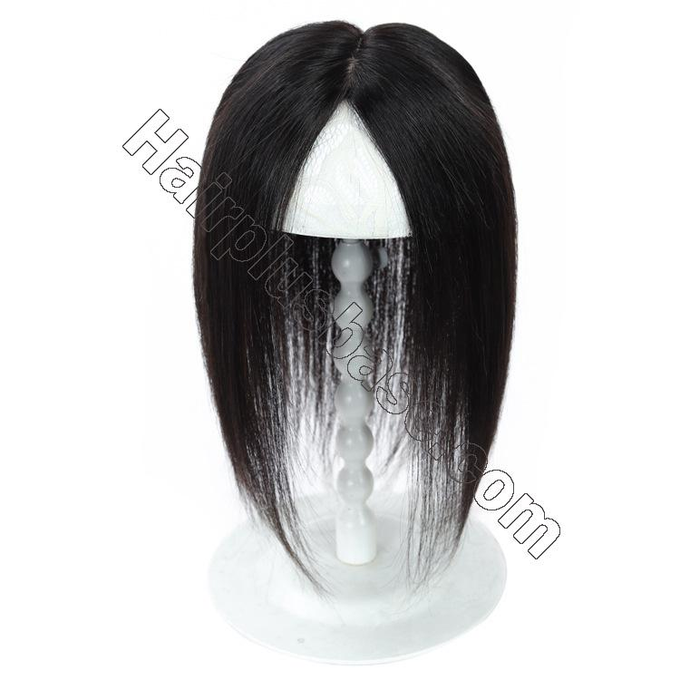 Silk Parline Base Hair Topper Pieces, Real Hair Toppers for Hair Loss or Thinning Hair 5