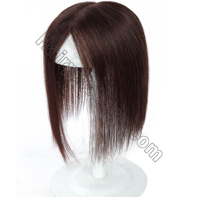Silk Parline Base Hair Topper Pieces, Real Hair Toppers for Hair Loss or Thinning Hair 6