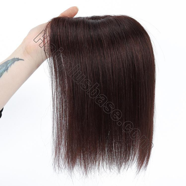 Silk Parline Base Hair Topper Pieces, Real Hair Toppers for Hair Loss or Thinning Hair 7