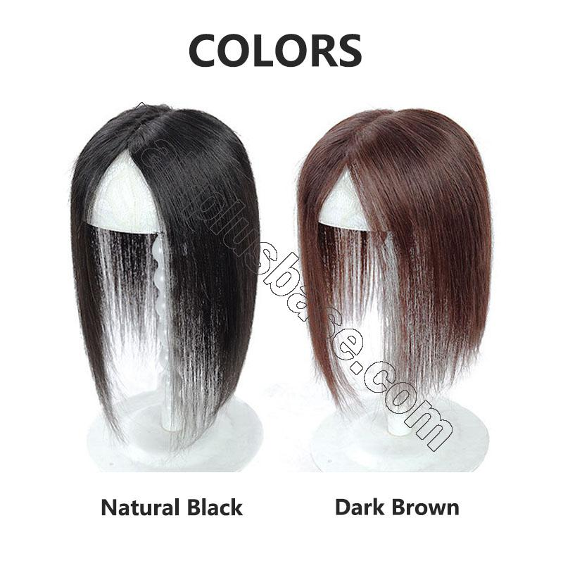 Silk Parline Base Hair Topper Pieces, Real Hair Toppers for Hair Loss or Thinning Hair 8