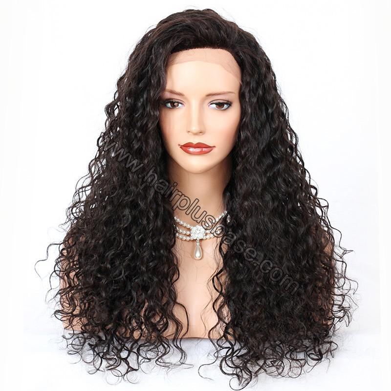 Silk Top 4*4 Full Lace Wigs Indian Human Hair Curly 1