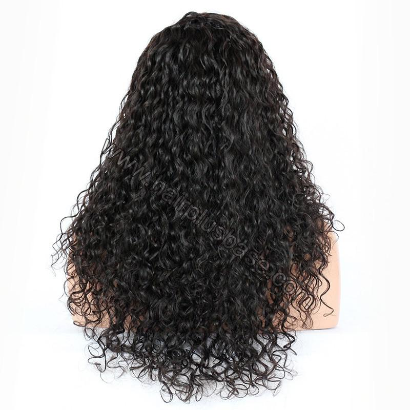 Silk Top 4*4 Full Lace Wigs Indian Human Hair Curly 5