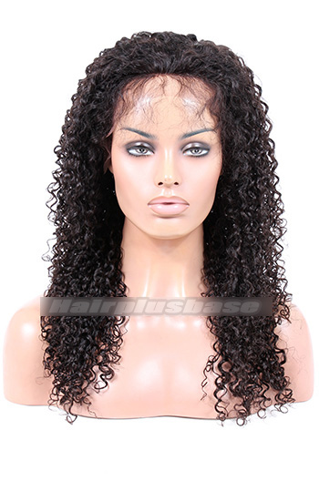 20 Inch 10mm Curl Indian Remy Hair Silk Top Full Lace Wigs