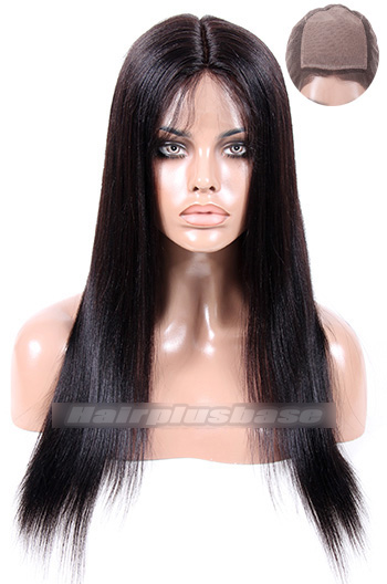 18 Inch Indian Remy Hair Light Yaki Silk Top Full Lace Wigs