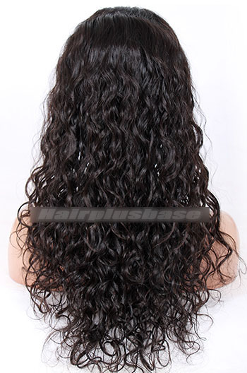 20 Inch Loose Curl Indian Remy Hair Silk Top Full Lace Wigs