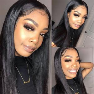Straight 370 Lace Front Wigs 6' Deep Part 10-26inch 180% Density