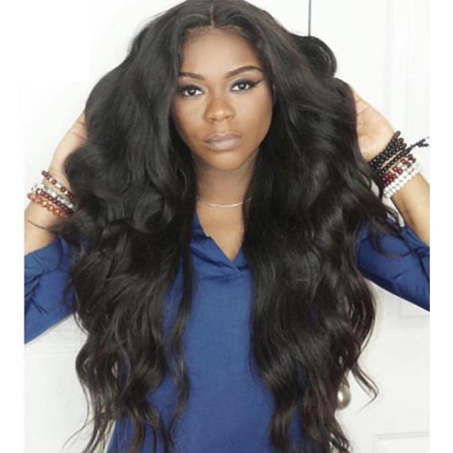 Super Wavy Lace Front Wigs Brazilian Virgin Human Hair