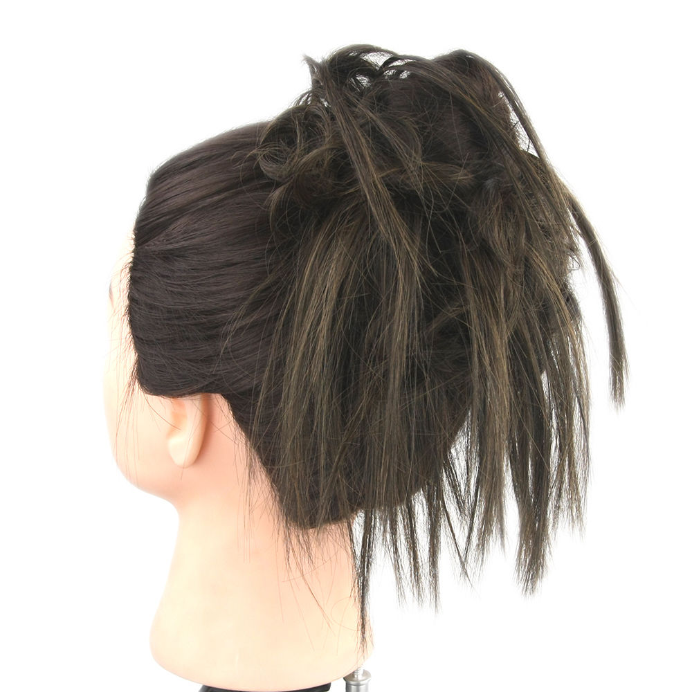 Synthetic Hair Flexible Scrunchie Bun Wrap Hair Chignon Ponytail  Body Wave 12
