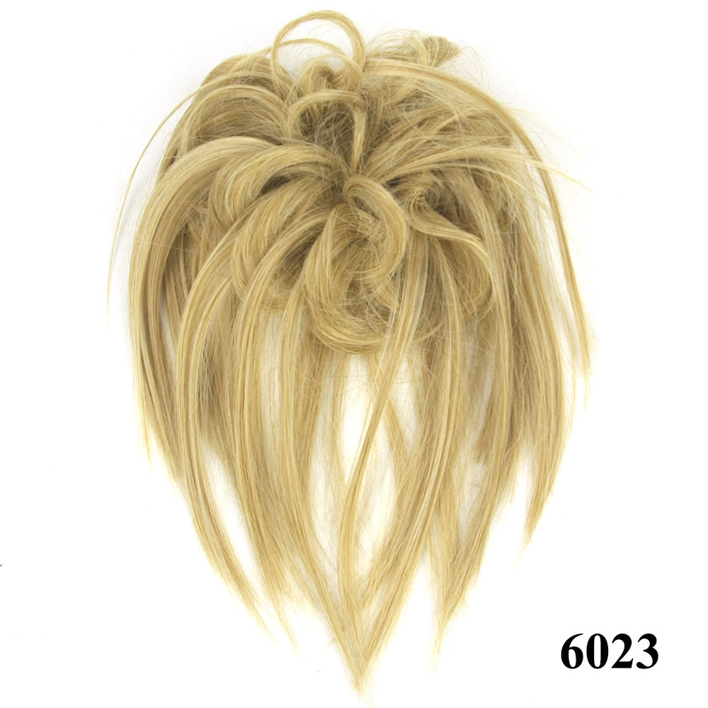 Synthetic Hair Flexible Scrunchie Bun Wrap Hair Chignon Ponytail  Body Wave 6
