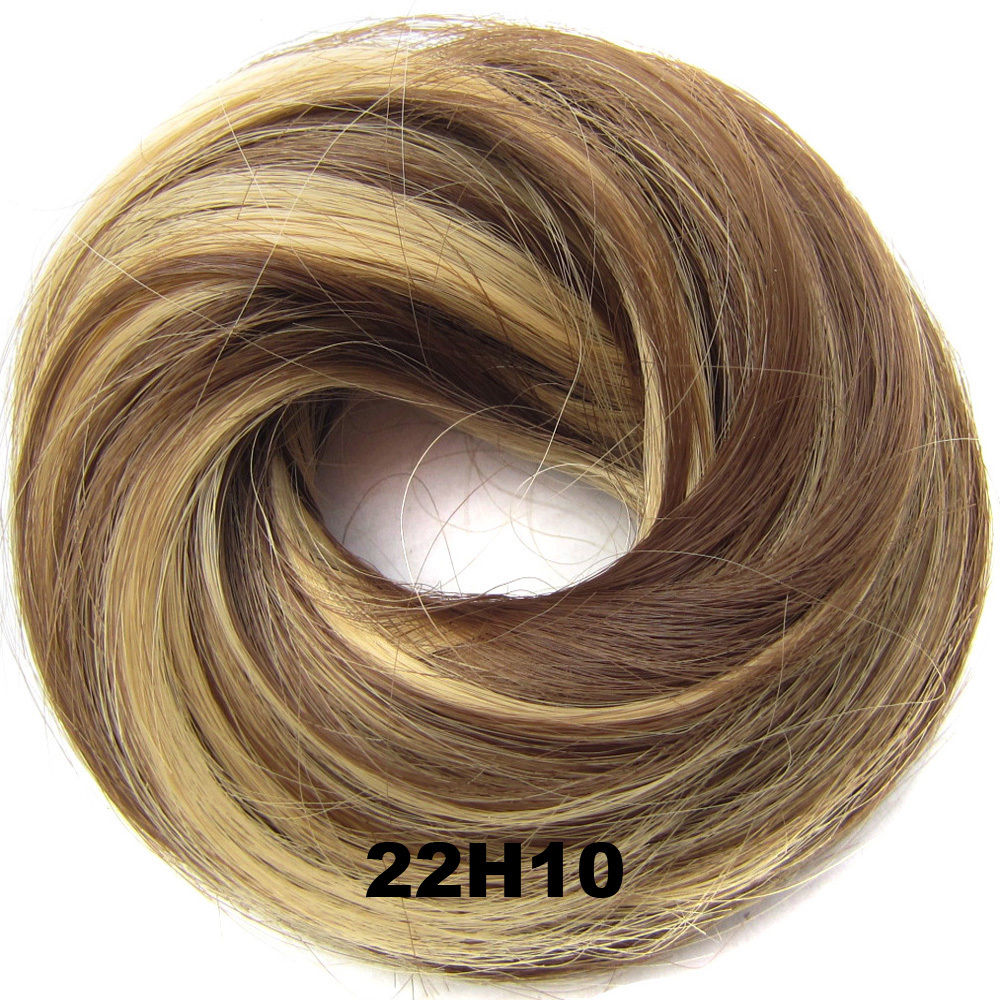 Synthetic Hair Flexible Scrunchie Wrap Hair Bun Ponytail Extensions Straight 11