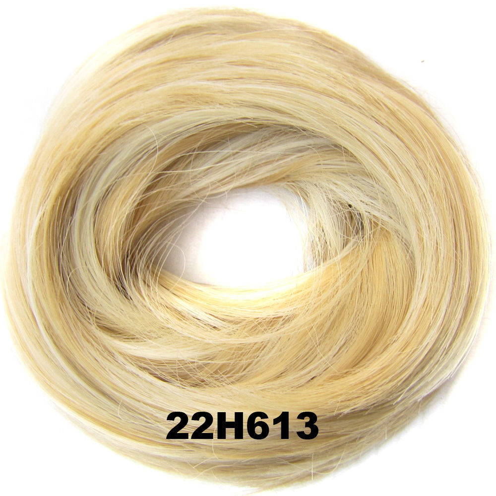 Synthetic Hair Flexible Scrunchie Wrap Hair Bun Ponytail Extensions Straight 12