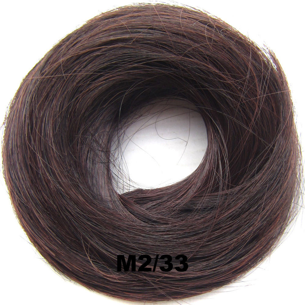 Synthetic Hair Flexible Scrunchie Wrap Hair Bun Ponytail Extensions Straight 23