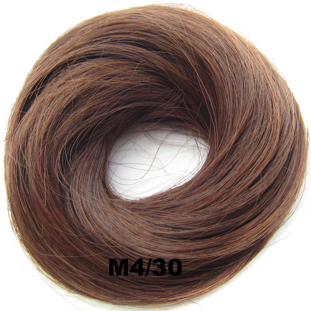 Synthetic Hair Flexible Scrunchie Wrap Hair Bun Ponytail Extensions Straight 24
