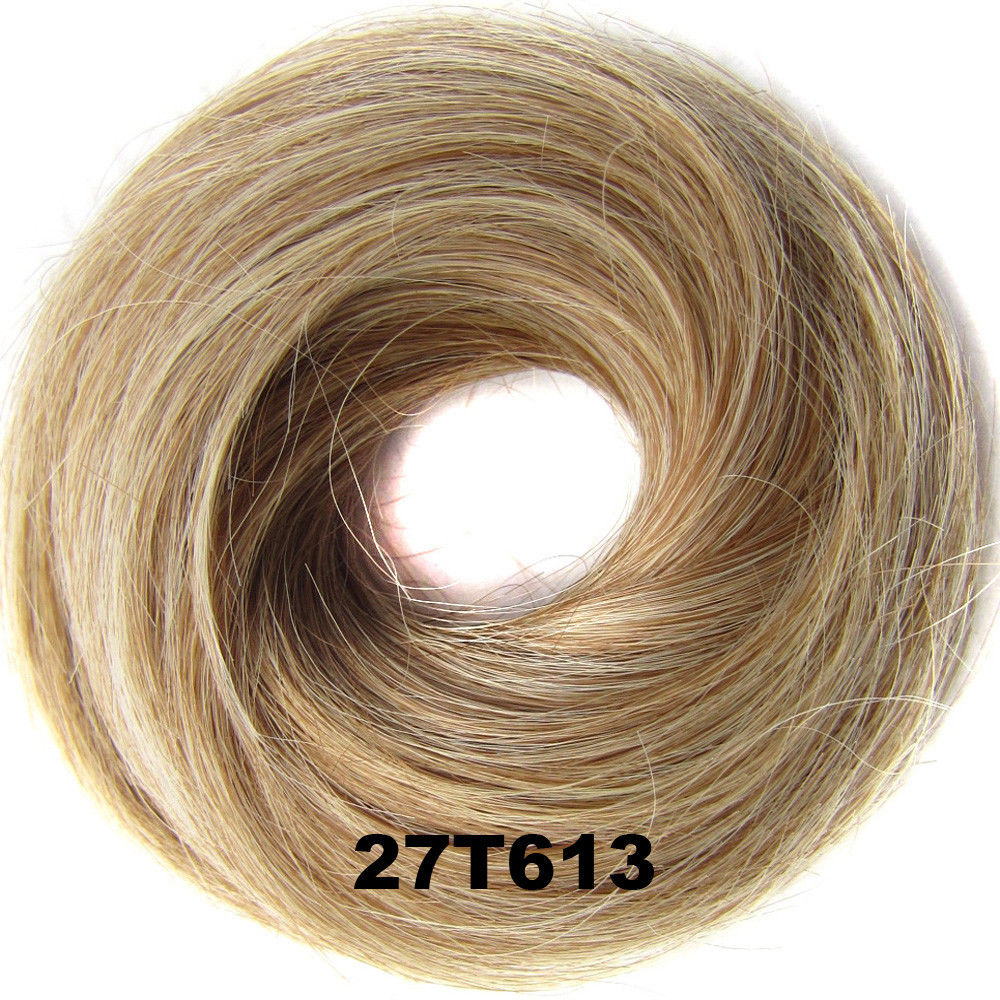 Synthetic Hair Flexible Scrunchie Wrap Hair Bun Ponytail Extensions Straight 28