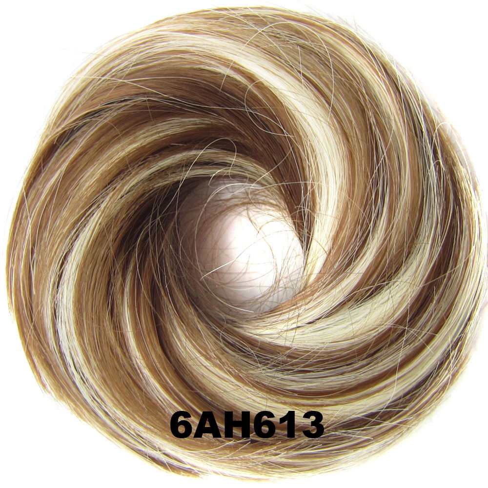 Synthetic Hair Flexible Scrunchie Wrap Hair Bun Ponytail Extensions Straight 6