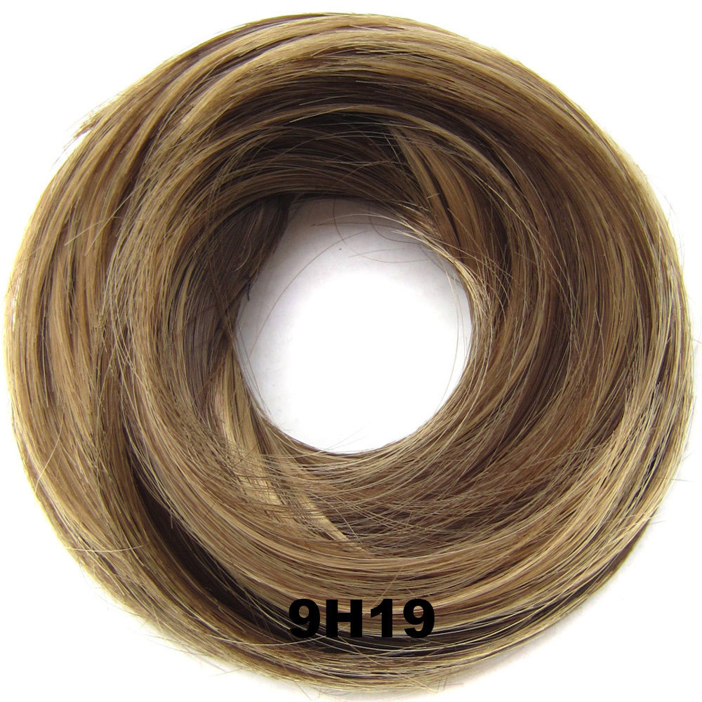 Synthetic Hair Flexible Scrunchie Wrap Hair Bun Ponytail Extensions Straight 8