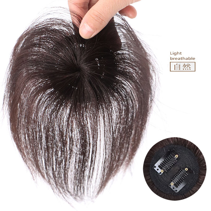 The Head Piece Of Whole Human Hair Wigs Cover Hair Wig Replacement Without A Trace Of Men And Women 2
