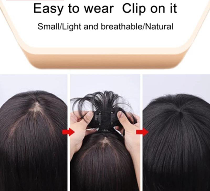 The Head Piece Of Whole Human Hair Wigs Cover Hair Wig Replacement Without A Trace Of Men And Women 5