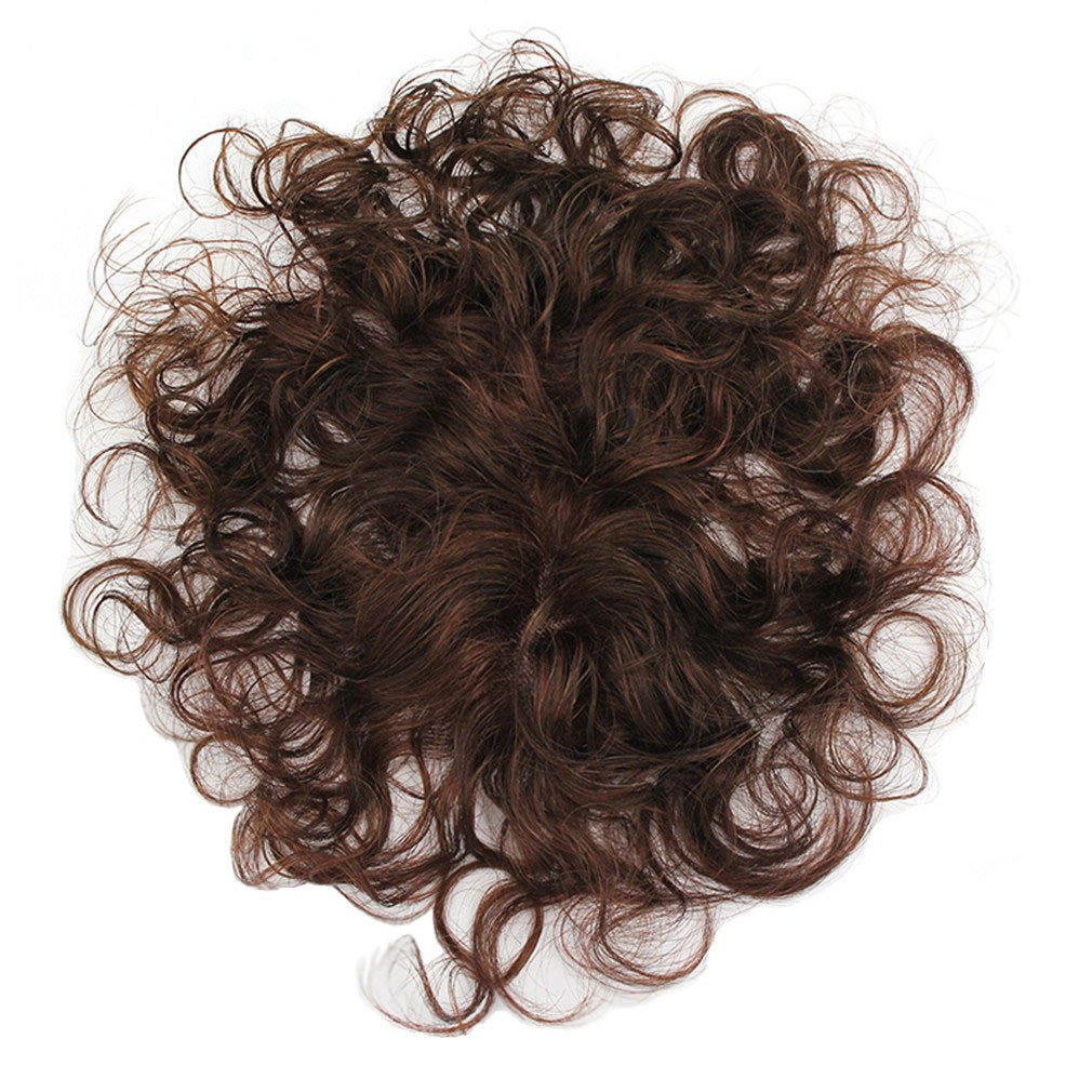 The New Short Hair In The Elderly Short Hair Curly Hair Top Hairpiece 100% Human Hair Wigs 1