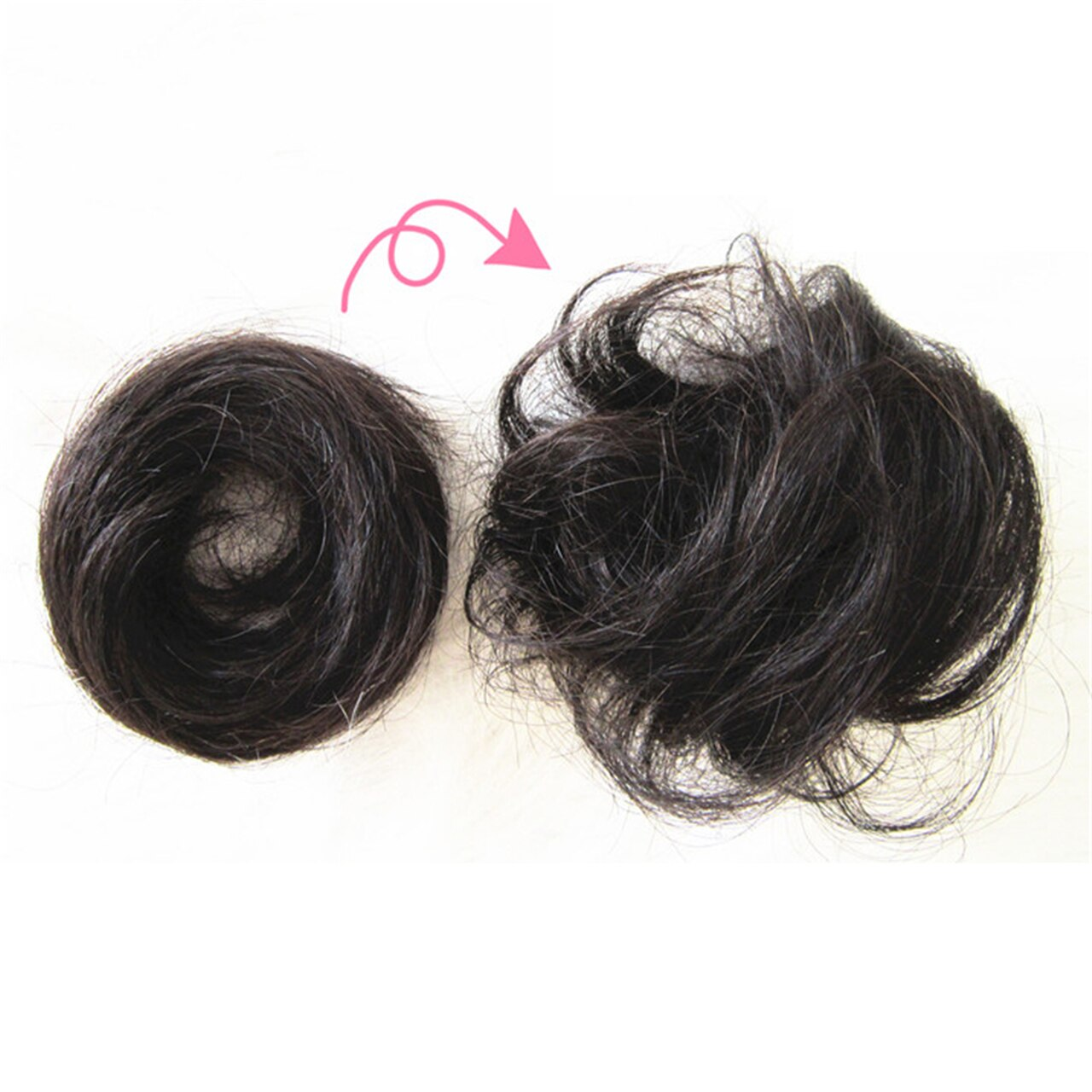 The Original Man Bun Instant Clip On Bun 100% Human Hair Extension 3