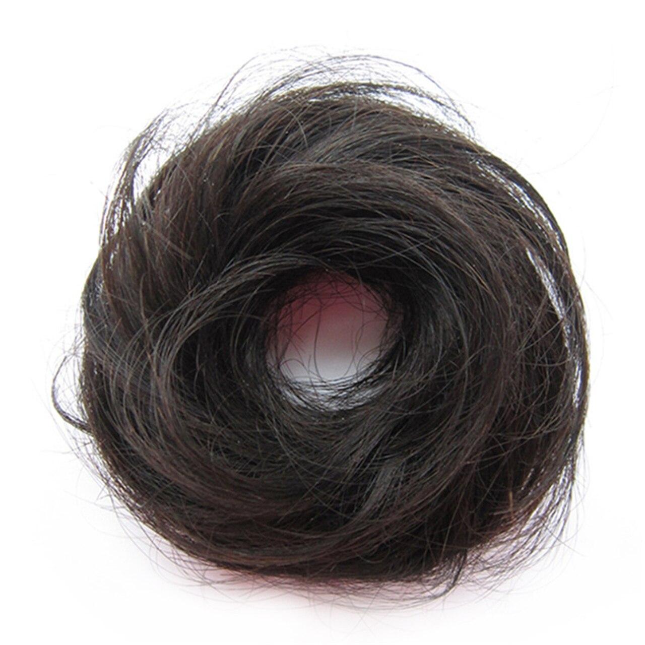 The Original Man Bun Instant Clip On Bun 100% Human Hair Extension 8