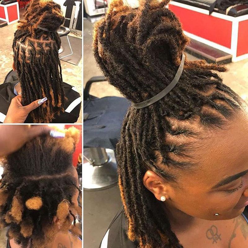 Tight Afro Kinky Bulk Hair 100% Human Hair Dreadlocks Twist Braid Hair Extension 1