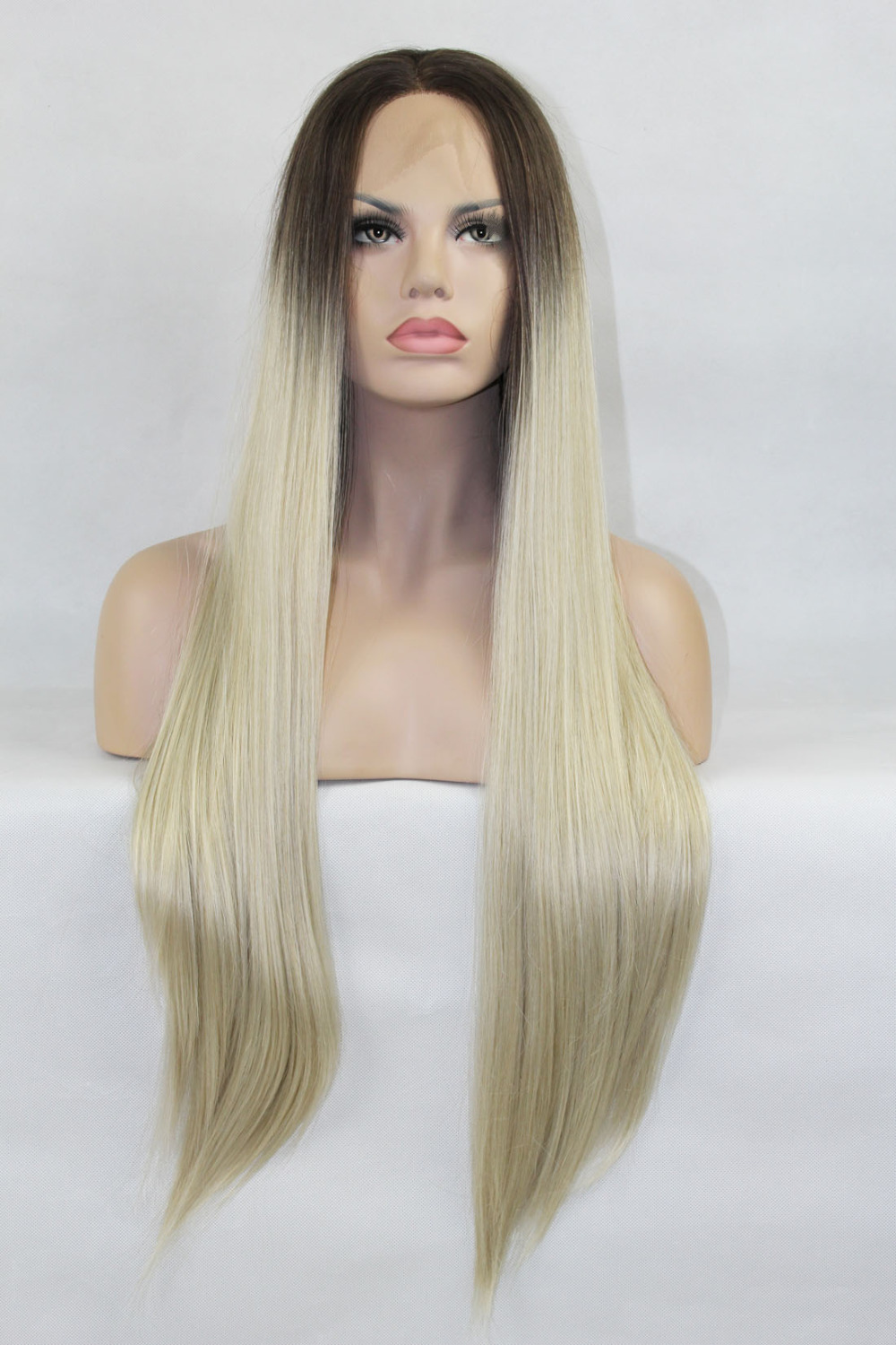 Trendy Silky Straight Ombre Lace Front Wig