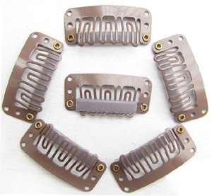 U-insection 3.2cm Light Brown Steel Hair Extension Clips 20pcs
