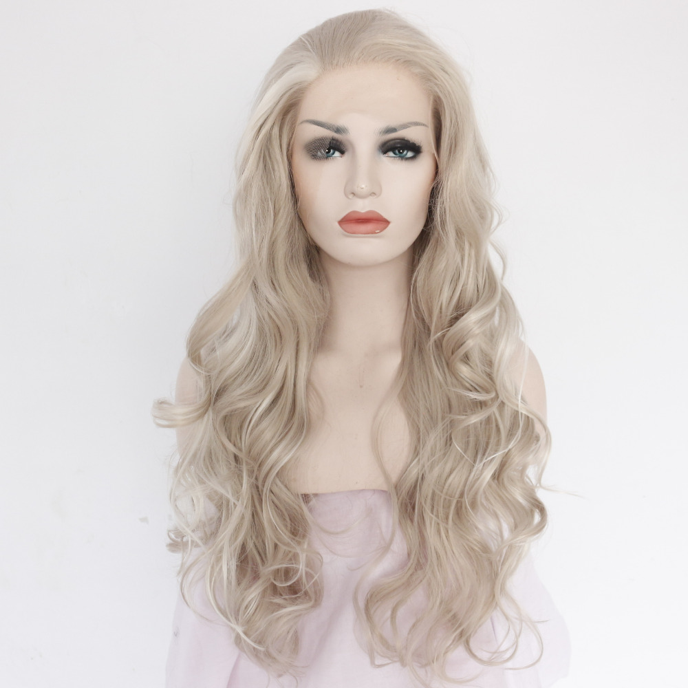 Vogue Body Wave Ash Grey Lace Front Wig for Girls