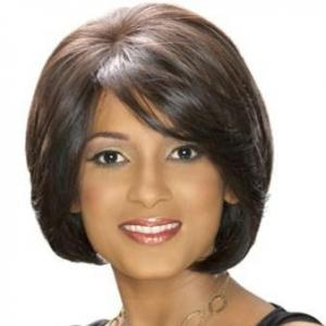 Vogue Wig Short Straight Sepia African American Lace Wigs for Women
