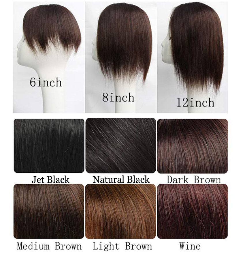 Womens Clip in Real Human Hair Toppers 5.5 x 5.5 Inch Silk Base Large Crown Topper Wiglet for Thinning Hair 2