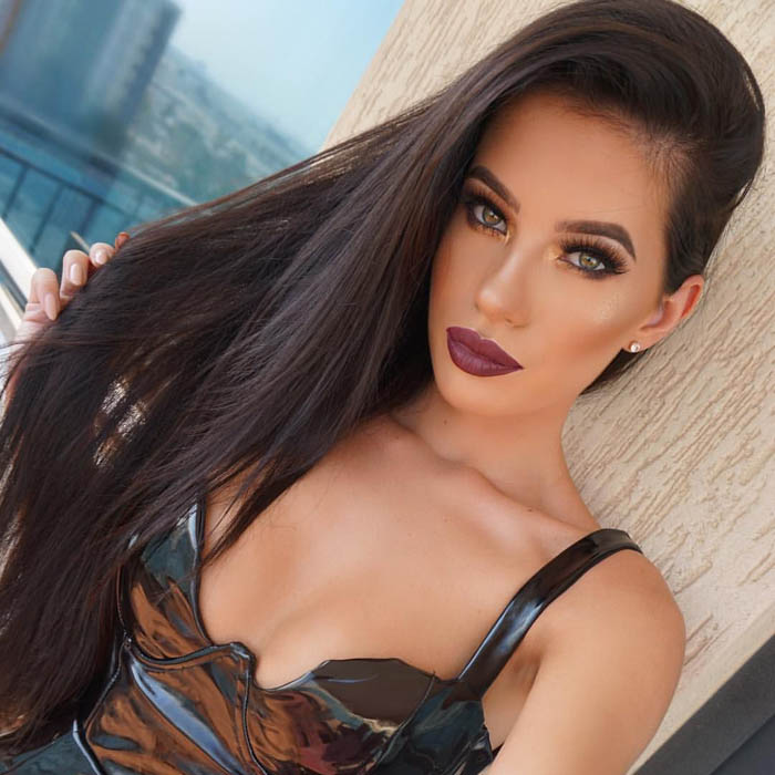 Yaki Straight 6 Inches Deep Part Lace Front Wigs Indian Remy Human Hair,150% Density