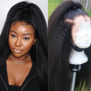Yaki Straight Lace Front Wigs For Black Women 150%-200% Density