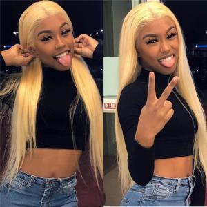Yolissa 613 Blonde Full Lace Wig Human Straight Hair